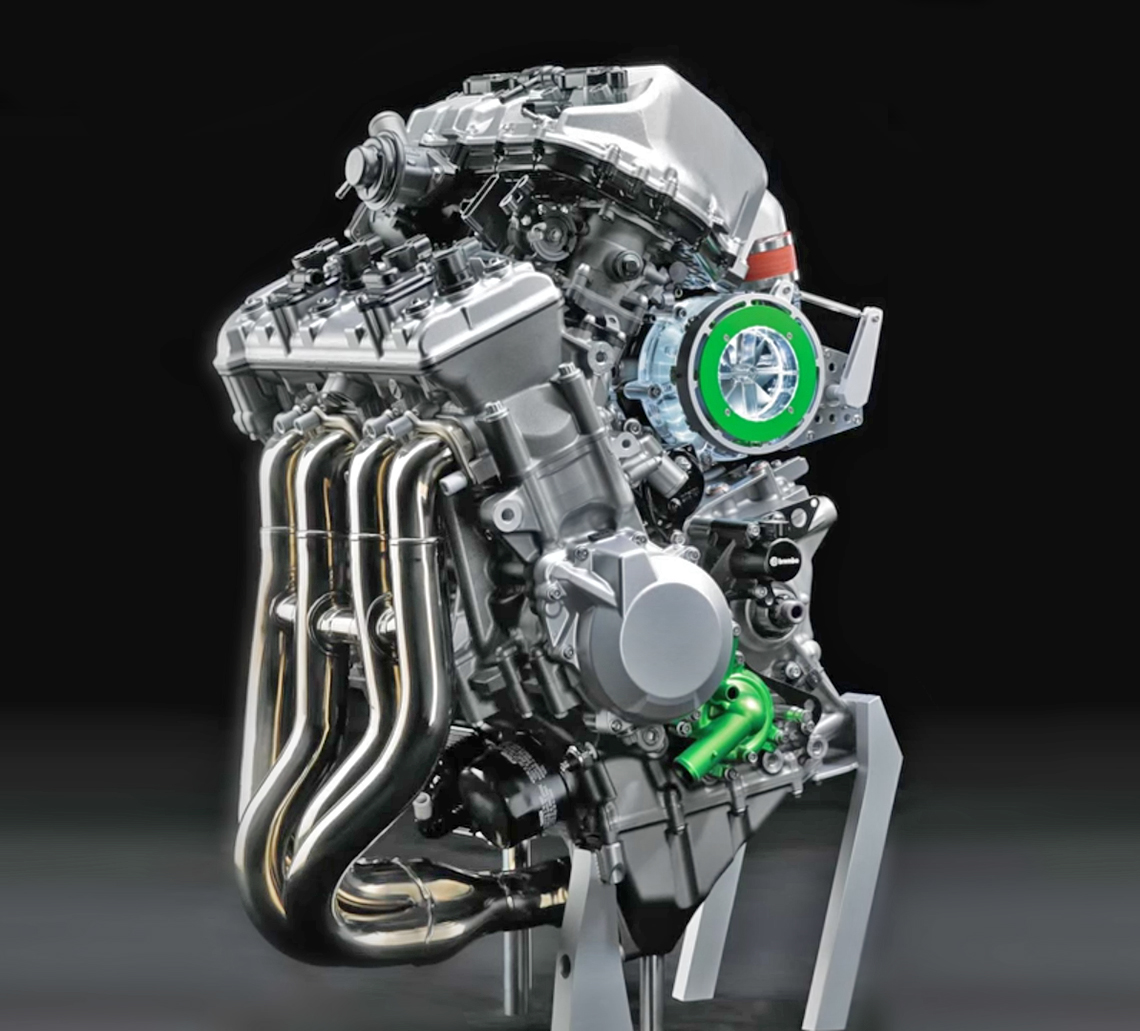 Kawasaki inline-four engine