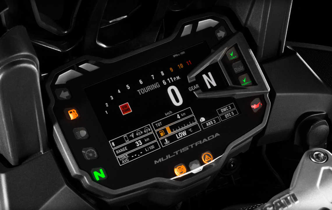 Ducati Multistrada1200 s dashboard